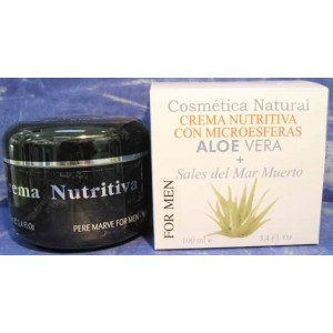Crema Nutritiva FOR MEN, Aloe Vera y Sales del Mar Muerto, 100 ml.